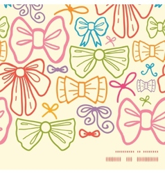 Colorful bows horizontal frame seamless pattern vector