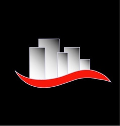 Abstract skyscrapers- logo for real estate vector