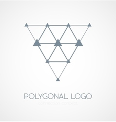 Abstract triangle connection concept icon logo vector