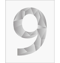 Number nine on a white background vector