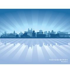 Novosibirsk russia skyline city silhouette vector