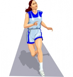 Athlete on track vector