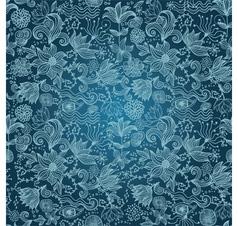 Floral outlines pattern vector