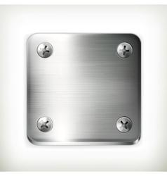 Metal plate with screws vector