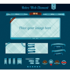 Retro web element 3 vector