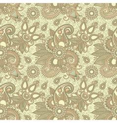 Seamless flower paisley design vector