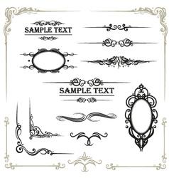 Calligraphy  design elements vector