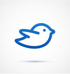 Blue twitter bird social media web icon vector