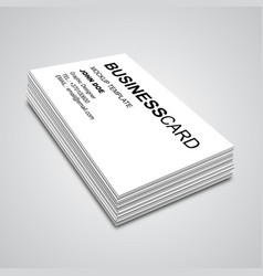 Business card mockup vector