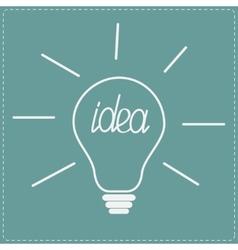 Big white light bulb idea concept vector