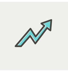 Lightning arrow upward thin line icon vector