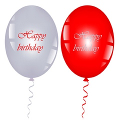 Red and gray balloons vector