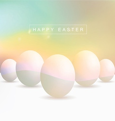 Colorful blurred egg objects vector