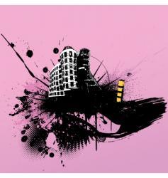 Grunge cityscape vector