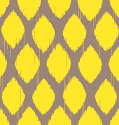 Ikat lemon yellow pattern vector