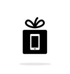 Gift mobile phone icon on white background vector