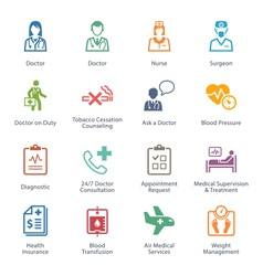 Colored medical services icons - set 2 vector