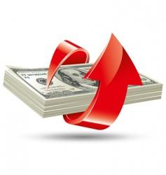 Bundle of dollars vector