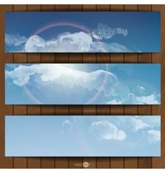 Cloud sky painted background vector