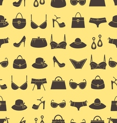 Fashion accessories pattern vector