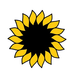 Sunflower logo vector