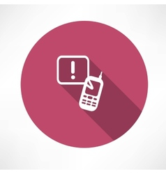 Attention sign phone icon vector