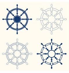 Set of 4 steering wheels vector
