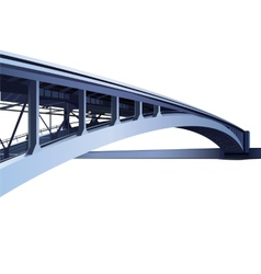 Blue large metal bridge vector