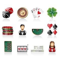 Gambling icon set vector