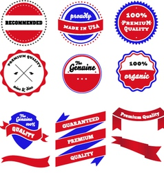 Set of badges labels and ribbon vector