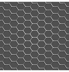 3d monochromatic honeycomb pattern background vector