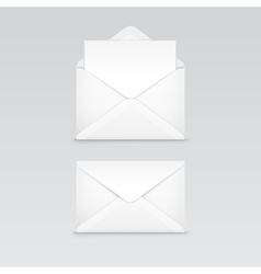 Set of white blank envelope isolated vector