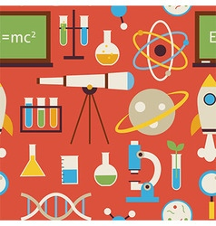 Flat seamless pattern science and education vector