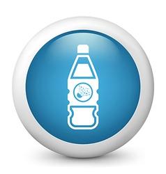 Explosive bottle glossy icon vector
