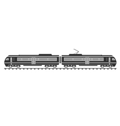Silhouette of electric train vector
