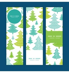 Holiday christmas trees vertical banners vector
