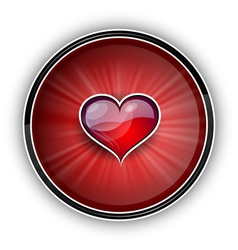 Heart on the red symbol vector