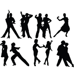Salsa silhouettes vector