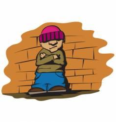 Cool kid vector