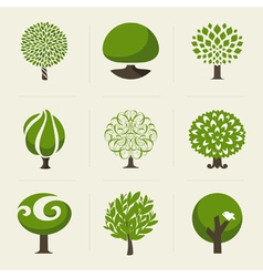 Tree - collection of design elements vector