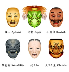 Japan masks ii vector