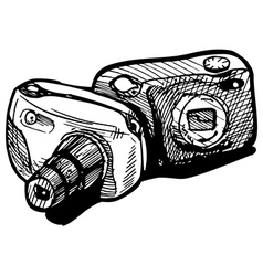 Cheap cameras vector