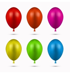 Modern balloons set on white vector