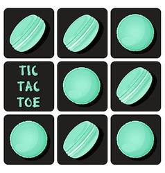 Tic-tac-toe of macaron vector