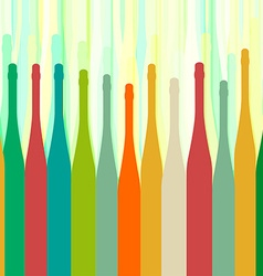 Bottles colorful background abstract vector