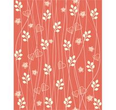 Valentines foliage pattern vector