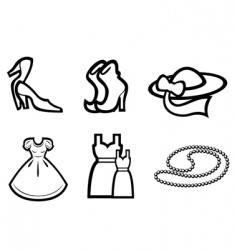 Woman fashion elements vector