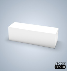 White wrap box package vector