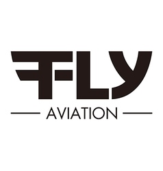 Logo abstract flying aviation vector