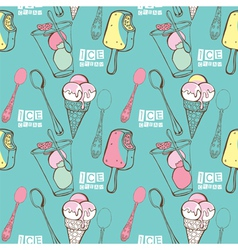 Funny ice cream vector